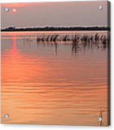 Sunset  River Panorama Acrylic Print by Vitaliy Gladkiy