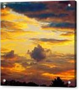 Sunset Sky By Artist Nature Acrylic Print