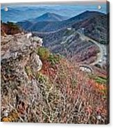 Sunset View Over Blue Ridge Mountains Acrylic Print