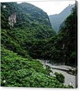 Taiwan Tropical Mountainscape Acrylic Print