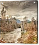 The Ancient Bridge At Ponte Novu In Corsica Acrylic Print