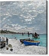 The Beach At Sainte-adresse Acrylic Print