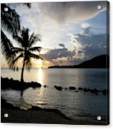 The Beach Of White Sand With Views Acrylic Print