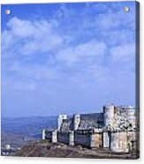 The Crusader Castle Krak Des Chevaliers Syria Acrylic Print