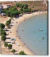 The Famous Psili Ammos Beach Acrylic Print