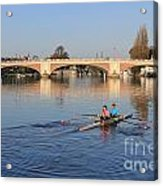 The River Thames At Hampton Court London Acrylic Print