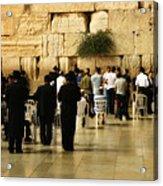 Praying At The Western Wall Acrylic Print