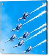 Thunderbirds And Blue Sky  Acrylic Print