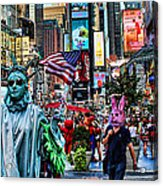 Times Square On A Tuesday Acrylic Print