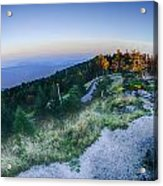 Top Of Mount Mitchell Before Sunset Acrylic Print