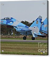 Ukrainian Air Force Su-27 Flanker Acrylic Print