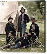 4 Union Officers Of The 4th Pennsylvania Cavalry Acrylic Print