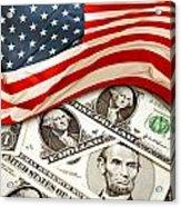 Usa Finance Acrylic Print