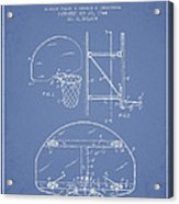 Vintage Basketball Goal Patent From 1944 Acrylic Print