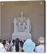 Visitors At The Lincoln Memorial Acrylic Print