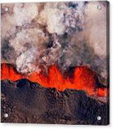 Volcano Eruption At The Holuhraun Acrylic Print