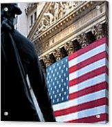 Wall Street Flag Acrylic Print