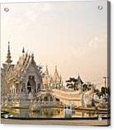 Wat Rong Khun In Chiang Rai Thailand  Acrylic Print