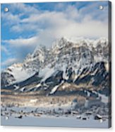 Wetterstein Mountain Chain With Mt Acrylic Print