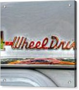 4 Wheel Drive Acrylic Print