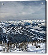 Whistler Mountain Peak View From Blackcomb Acrylic Print