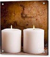 White Candles Acrylic Print