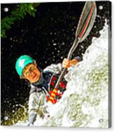 Whitewater Kayak Acrylic Print