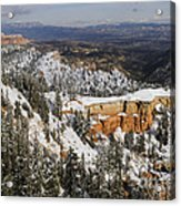 Winter Scene, Bryce Canyon National Park Acrylic Print