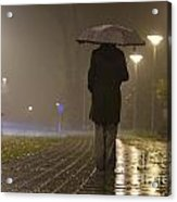 Woman With An Umbrella Acrylic Print