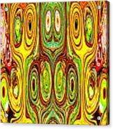Woodcraft Ghosts Spirits Indian Native Aboriginal Masks Motif Symbol Emblem Ethnic Rituals Display H Acrylic Print