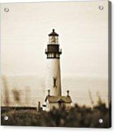 Yaquina Head Lighthouse - Sepia Texture Acrylic Print