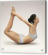 Yoga Bow Pose Acrylic Print