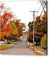 Fall Foliage In New England Acrylic Print