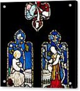 Religious Stained Glass Window Acrylic Print