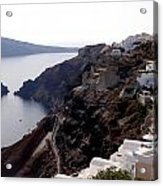 Views Of Santorini Greece Acrylic Print