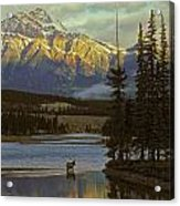 4028a, Evening Skyline, Montreal, Qc Acrylic Print