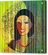 416 - Lady With Nice Teeth Acrylic Print
