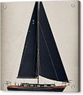 42 Black Sails Acrylic Print