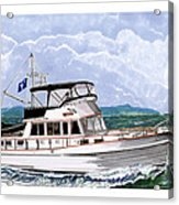 42 Foot Grand Banks Motoryacht Acrylic Print