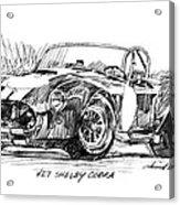 427 Shelby Cobra Acrylic Print by David Lloyd Glover