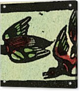 Illustration Of English Tales Folk Tales And Ballads Acrylic Print