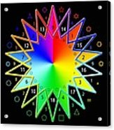 432hz Rainbow Star Acrylic Print