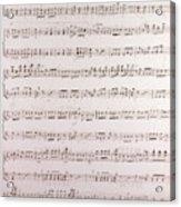 Handwritten Sheet Music, Music Notes Acrylic Print
