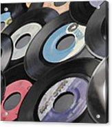 45 Records Nostalgia Acrylic Print