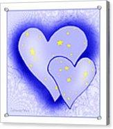 457 - Two Hearts Blue Acrylic Print