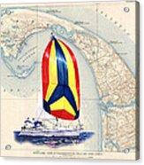 39 Foot Beneteau Cape Cod Chart Art Acrylic Print