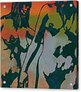Nude Pop Stylised Art Poster Acrylic Print