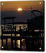 An Outer Banks Of North Carolina Sunset Acrylic Print