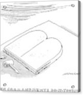 The Ten Commandments Do-it-yourself Kit Acrylic Print
