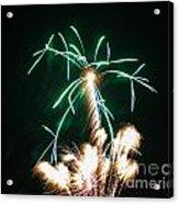 4th Of July 2014 Fireworks Bridgeport Hill Clarksburg Wv 2 Acrylic Print by Howard Tenke